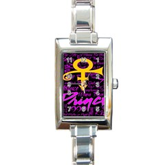 Prince Poster Rectangle Italian Charm Watch