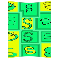 Letter Huruf S Sign Green Yellow Back Support Cushion