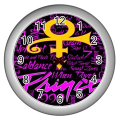 Prince Poster Wall Clocks (silver)