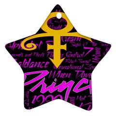 Prince Poster Star Ornament (two Sides)
