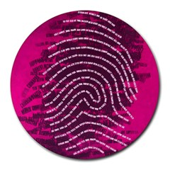 Above & Beyond Sticky Fingers Round Mousepads