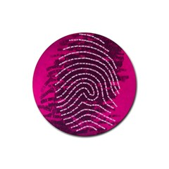 Above & Beyond Sticky Fingers Rubber Round Coaster (4 Pack)