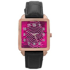 Above & Beyond Sticky Fingers Rose Gold Leather Watch