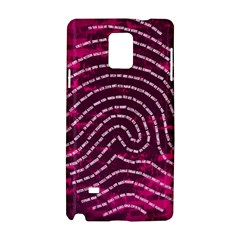 Above & Beyond Sticky Fingers Samsung Galaxy Note 4 Hardshell Case