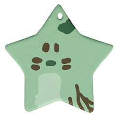 Lineless Background For Minty Wildlife Monster Ornament (star)