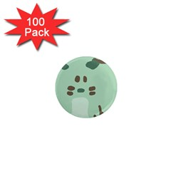 Lineless Background For Minty Wildlife Monster 1  Mini Magnets (100 Pack)