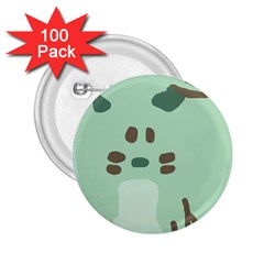 Lineless Background For Minty Wildlife Monster 2 25  Buttons (100 Pack)