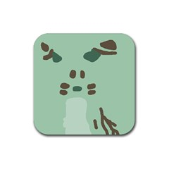 Lineless Background For Minty Wildlife Monster Rubber Coaster (square)