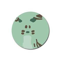 Lineless Background For Minty Wildlife Monster Rubber Coaster (round)