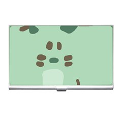 Lineless Background For Minty Wildlife Monster Business Card Holders
