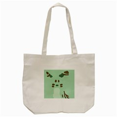Lineless Background For Minty Wildlife Monster Tote Bag (cream)