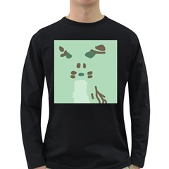 Lineless Background For Minty Wildlife Monster Long Sleeve Dark T Shirts