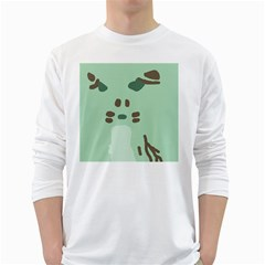 Lineless Background For Minty Wildlife Monster White Long Sleeve T Shirts