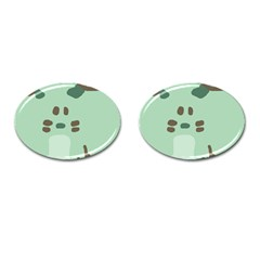 Lineless Background For Minty Wildlife Monster Cufflinks (oval)