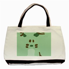 Lineless Background For Minty Wildlife Monster Basic Tote Bag