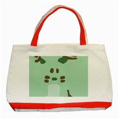 Lineless Background For Minty Wildlife Monster Classic Tote Bag (red)