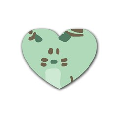 Lineless Background For Minty Wildlife Monster Rubber Coaster (heart)