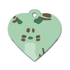 Lineless Background For Minty Wildlife Monster Dog Tag Heart (two Sides)