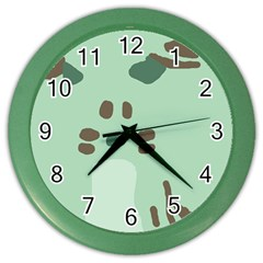 Lineless Background For Minty Wildlife Monster Color Wall Clocks