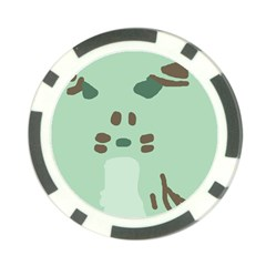 Lineless Background For Minty Wildlife Monster Poker Chip Card Guard (10 Pack)