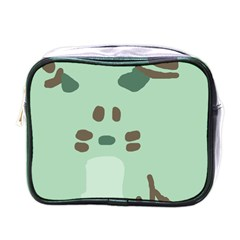 Lineless Background For Minty Wildlife Monster Mini Toiletries Bags