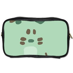 Lineless Background For Minty Wildlife Monster Toiletries Bags 2 Side