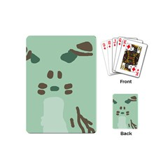Lineless Background For Minty Wildlife Monster Playing Cards (mini)