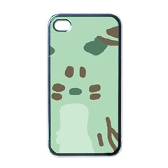 Lineless Background For Minty Wildlife Monster Apple Iphone 4 Case (black)