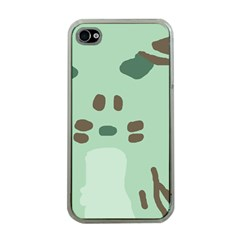 Lineless Background For Minty Wildlife Monster Apple Iphone 4 Case (clear)