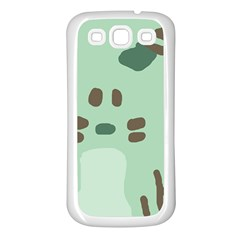 Lineless Background For Minty Wildlife Monster Samsung Galaxy S3 Back Case (white)