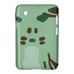 Lineless Background For Minty Wildlife Monster Samsung Galaxy Tab 2 (7 ) P3100 Hardshell Case