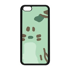 Lineless Background For Minty Wildlife Monster Apple Iphone 5c Seamless Case (black)