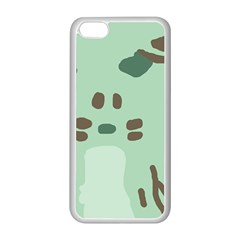 Lineless Background For Minty Wildlife Monster Apple Iphone 5c Seamless Case (white)