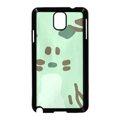 Lineless Background For Minty Wildlife Monster Samsung Galaxy Note 3 Neo Hardshell Case (black)