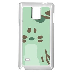 Lineless Background For Minty Wildlife Monster Samsung Galaxy Note 4 Case (white)