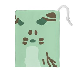 Lineless Background For Minty Wildlife Monster Drawstring Pouches (extra Large)