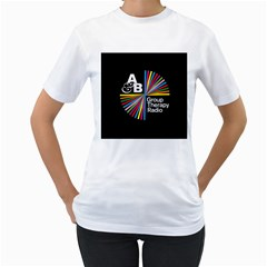 Above & Beyond  Group Therapy Radio Women s T Shirt (white) (two Sided)