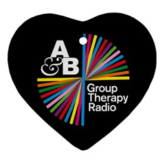 Above & Beyond  Group Therapy Radio Heart Ornament (two Sides)