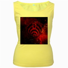 Bassnectar Galaxy Nebula Women s Yellow Tank Top