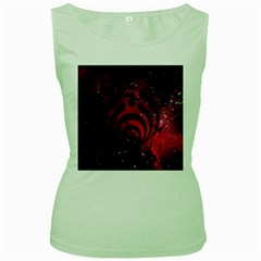 Bassnectar Galaxy Nebula Women s Green Tank Top