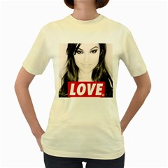 Sasha Grey Love Women s Yellow T Shirt