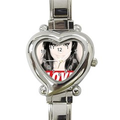 Sasha Grey Love Heart Italian Charm Watch