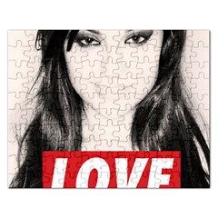 Sasha Grey Love Rectangular Jigsaw Puzzl