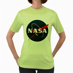 Nasa Logo Women s Green T Shirt