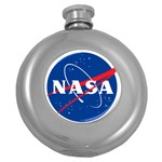 Nasa Logo Round Hip Flask (5 oz) Front