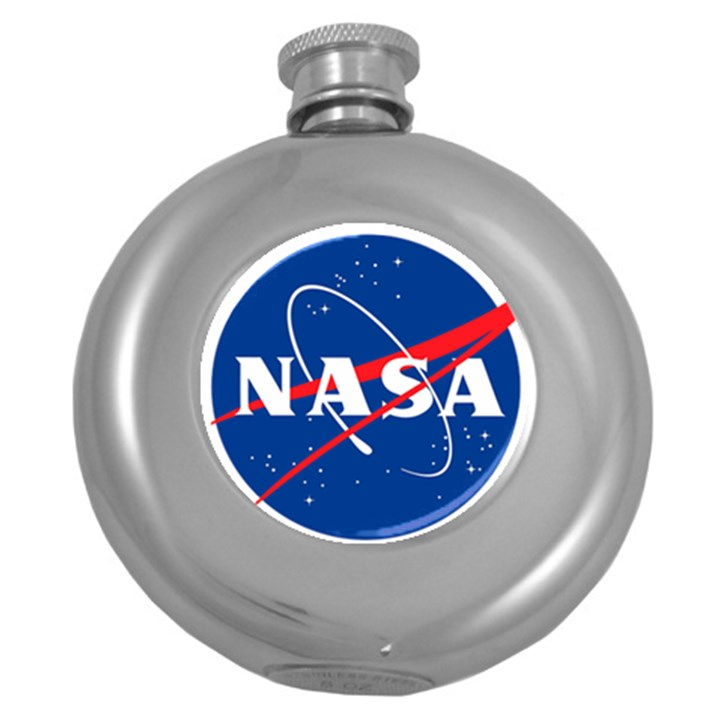 Nasa Logo Round Hip Flask (5 oz)