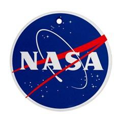 Nasa Logo Round Ornament (two Sides)