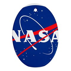 Nasa Logo Oval Ornament (two Sides)
