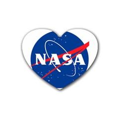 Nasa Logo Heart Coaster (4 Pack)