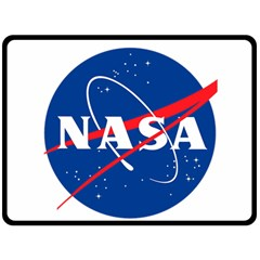 Nasa Logo Fleece Blanket (large)